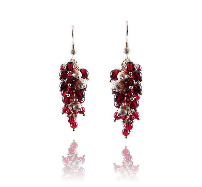 Fire and Ice earrings by Deberitz.