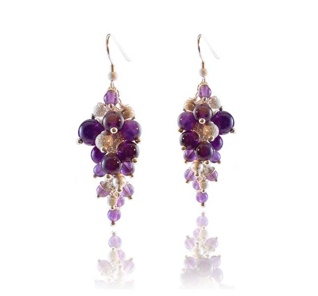 Purple Haze earrings by Deberitz.