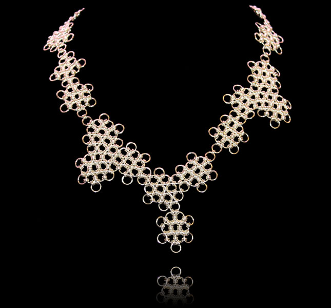 Snowflakes necklace by Deberitz